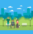 disabled people in city life concept vector image