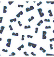 Goggles seamless pattern vector image