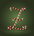 Candy cane abc z vector