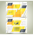 brochure design geometric abstract vector image vector image