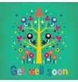 Get well soon card vector image