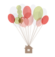 home air balloon thread vector image