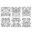Celtic outline entwined mystical animals vector image vector image