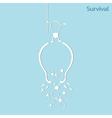 broken light bulb vector image