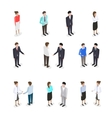 Set of talking people vector image