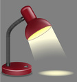lighting table vector image vector image