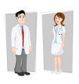 doctors male female vector image vector image