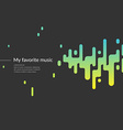Background with a sound wave vector image