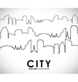 Building and tower icon City design vector image