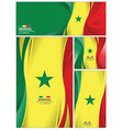 abstract senegal flag background vector image