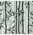 bamboo seamless pattern on green vector image