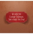 Christmas and New Year vintage red greeting Card vector image