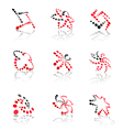 Color abstract pictograms set vector image