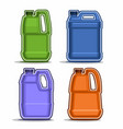 colored canisters vector image