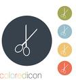 scissors barbershop vector image