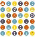 set flat cosmetic icons vector image
