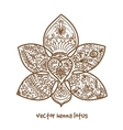 tattoo henna lotus vector image