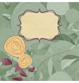 Vintage Roses Card vector image