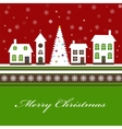 Christmas card with a beautiful little vector image vector image