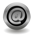 Metallic email button vector image