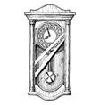 old pendulum clock vector image