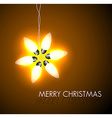 background with christmas star vector image vector image