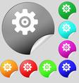 Cog settings Cogwheel gear mechanism icon sign Set vector image