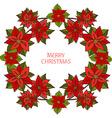 winter holidays wreath vector image