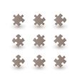 brown puzzle pieces vector image