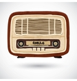 Grunge vintage wooden radio vector image