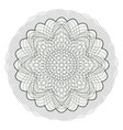 guilloche rosette decorative abstract vector image