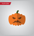 isolated gourd flat icon pumpkin element vector image