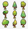 ornamental tree vector image