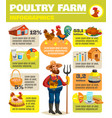 poultry farm infographic poster vector image