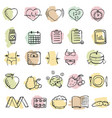 set of hand drawn diet icons set set of hand vector image