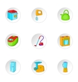 Devices for home icons set cartoon style vector image