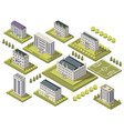isometric university set vector image