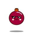 pomegranate fruit cartoon character icon kawaii vector image
