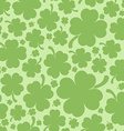 Four leaf clover background vector image vector image