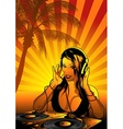 girl dj wallpaper vector image