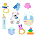 baby elements vector image vector image