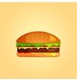 Simple Burger Icon eps 10 vector image vector image