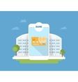 Bank mobile application vector image