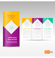 Brochure Tri-fold Design Template block for images vector image