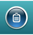 Check list icon Flat design isolated document vector image