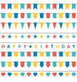colorful bunting and garland set vector image