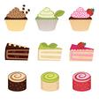 Colorful desserts set vector image