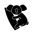 koala cute icon black sign vector image