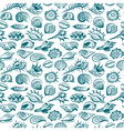 pattern with seashells vector image