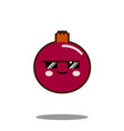 pomegranate fruit cartoon character icon kawaii vector image